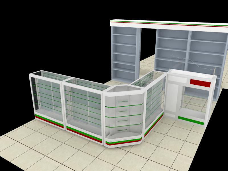 Mobiliario para farmacia muebles para farmacias y droguerias - Muebles en aluminio ...