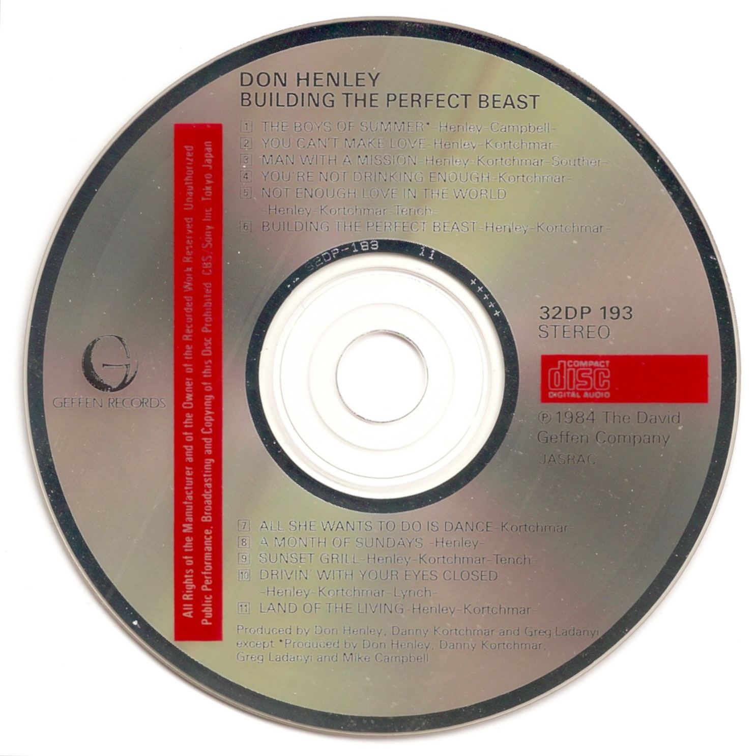 Don Henley - Building The Perfect Beast   Releases   Discogs