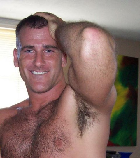 hairy chest:
