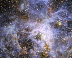 soñando con un viaje a Venezuela, después a Marte tras ver en una pantalla constelaciones y nebulosas cósmicas