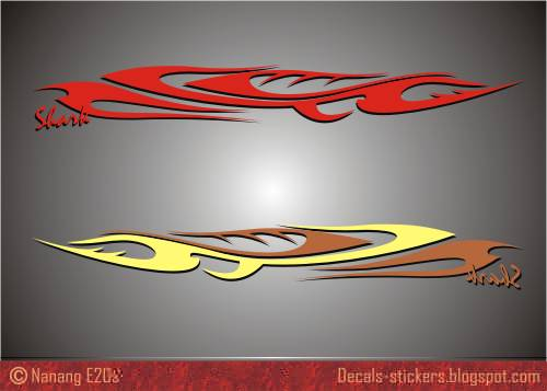 Shark Design For Car Decal And Trucks Decalcomania Stock - Design decals for cars