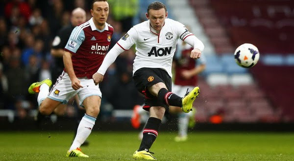 VIDEO GOL SPEKTAKULER ROONEY ALA DAVID BECKHAM 2014 MU vs West Ham 2-0 Gol dari Lapangan Tengah
