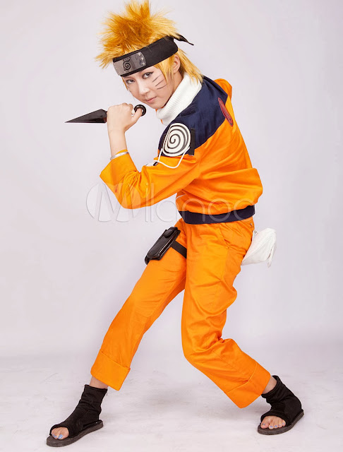 China Wholesale Cosplay Costume - Yellow Deep Blue Naruto Uzumaki Naruto Cosplay Costume