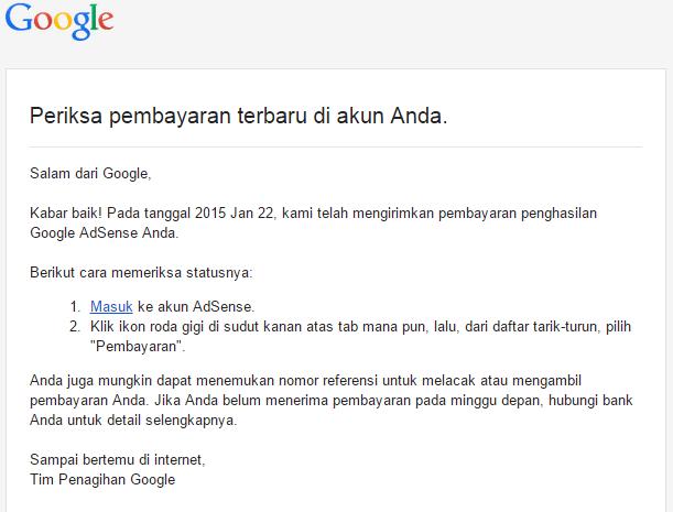 Gajian Google Adsense Pertama Via Transfer Ban