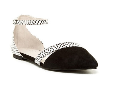 Aldo black and white ballet flats with dots