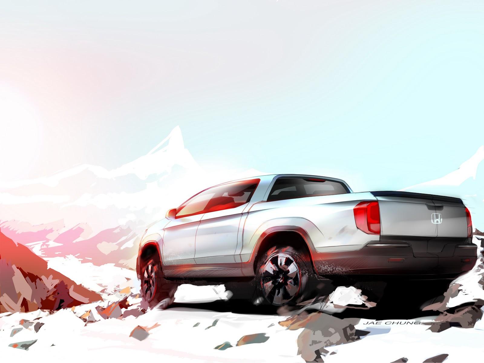 2015 - [Honda] Ridgeline Preview_Sketch_of_Next_Gen_Honda_Ridgeline