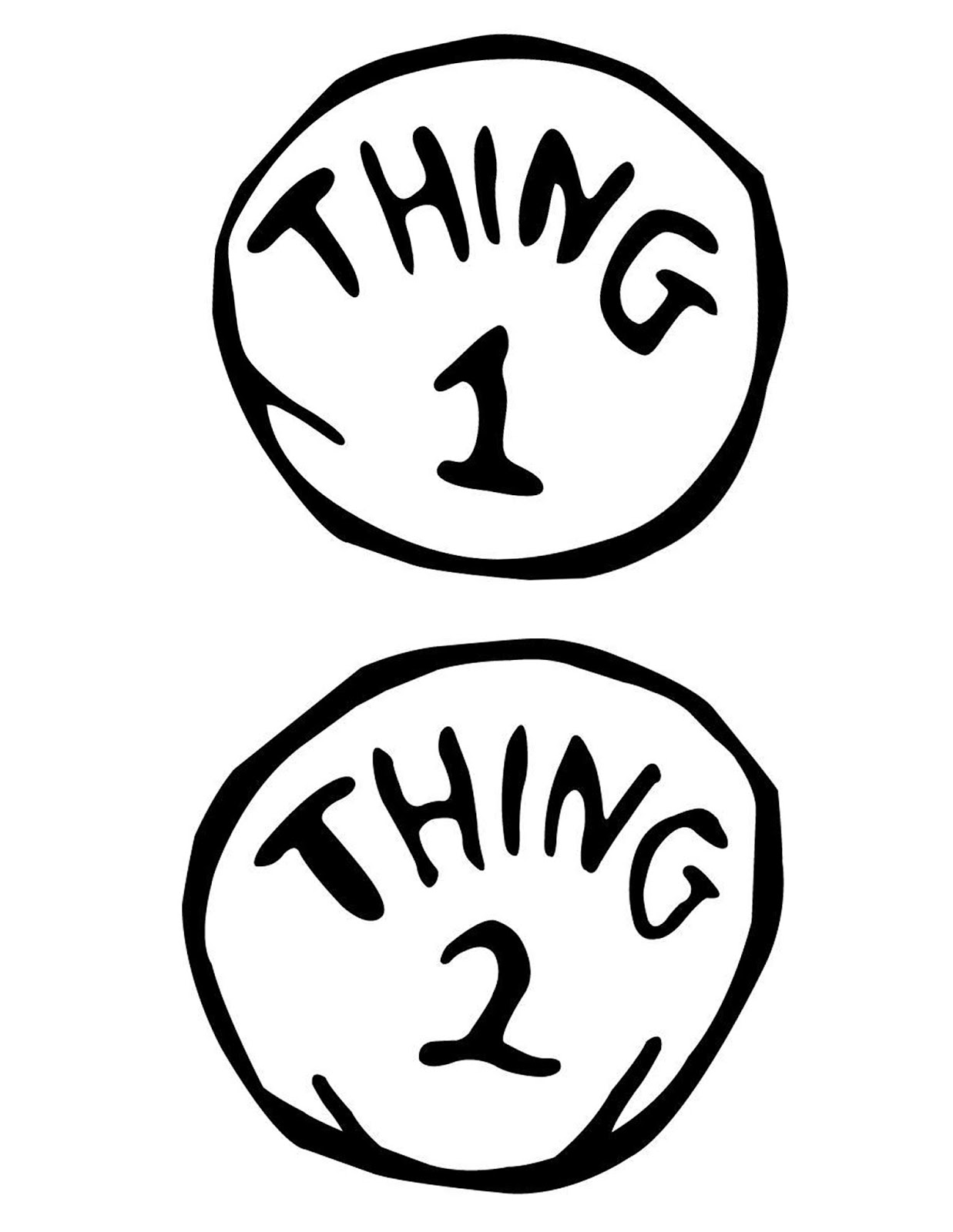 Handy image intended for printable thing 1 logo