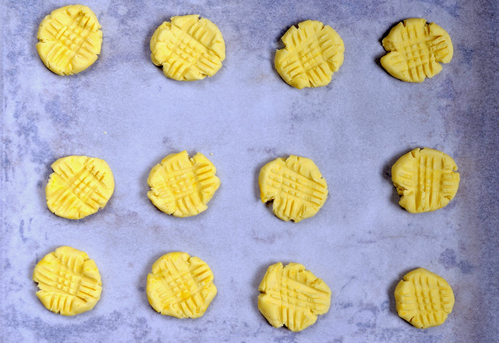 uformowane ciasteczka