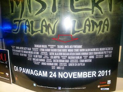 Kesalahan Cetakkan Poster 'Misteri Jalan Lama'