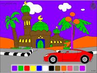 Арабский язык – Цвета – Онлайн раскраска