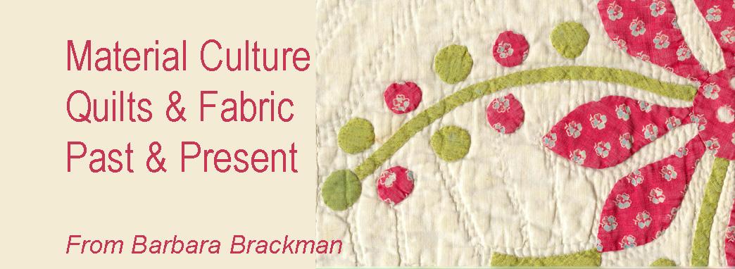 Barbara Brackman's <br> MATERIAL CULTURE