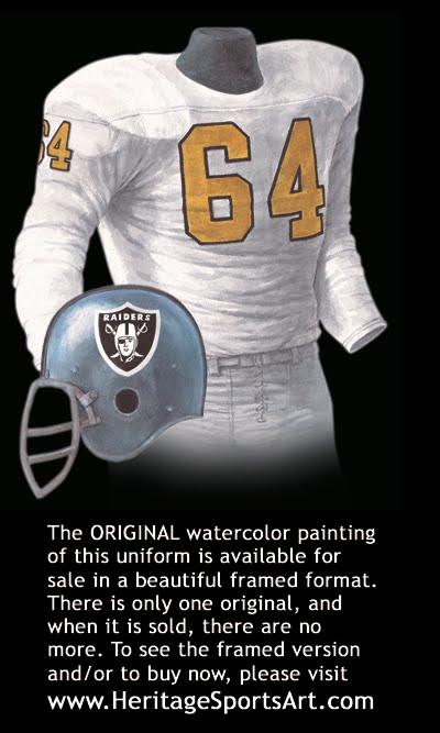 Oakland Raiders Uniform and Team History  b7c23b811