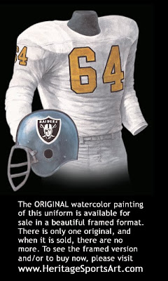 Oakland Raiders 1963 uniform
