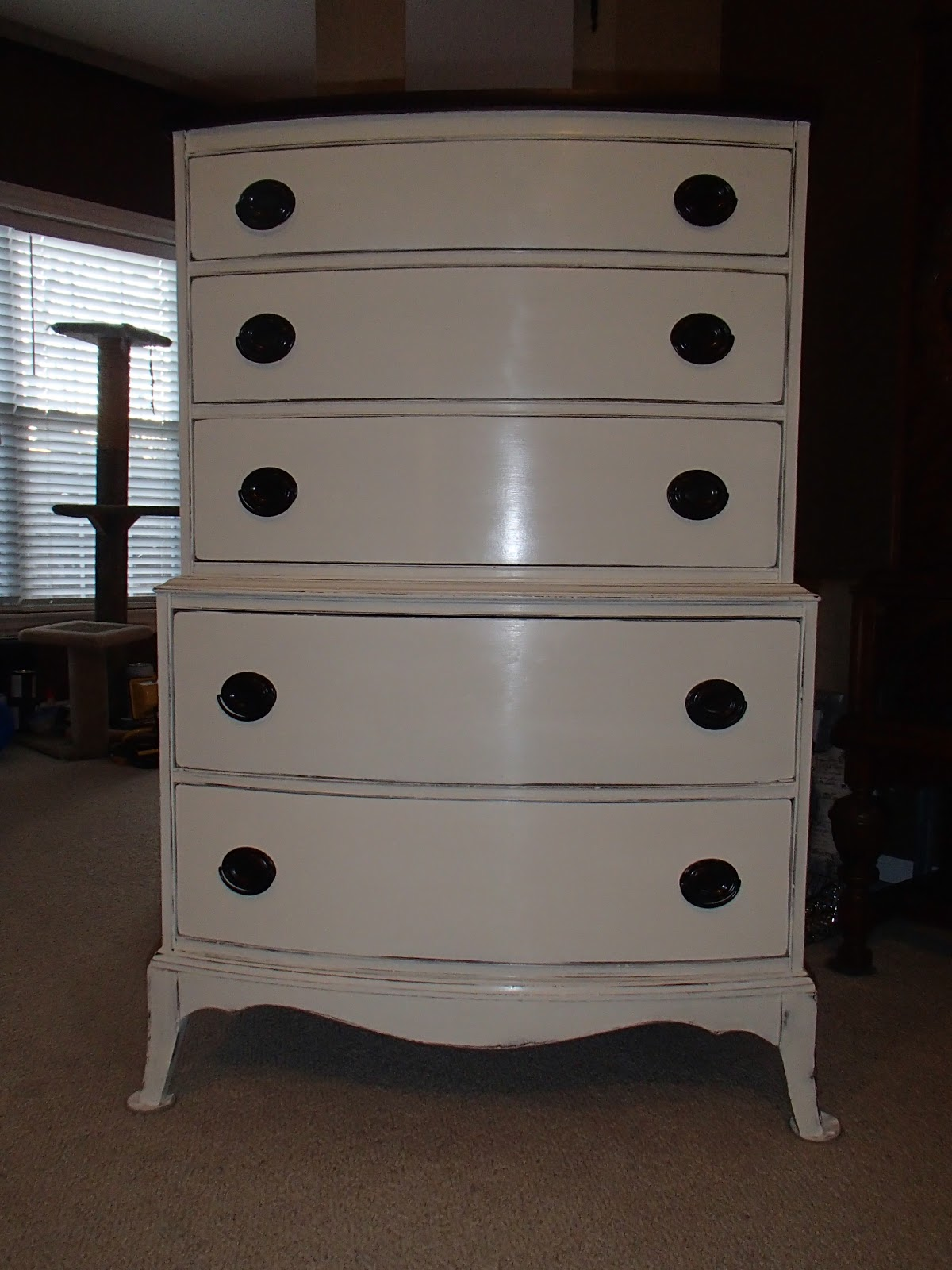 New Again: Old White Antique Chest of Drawers