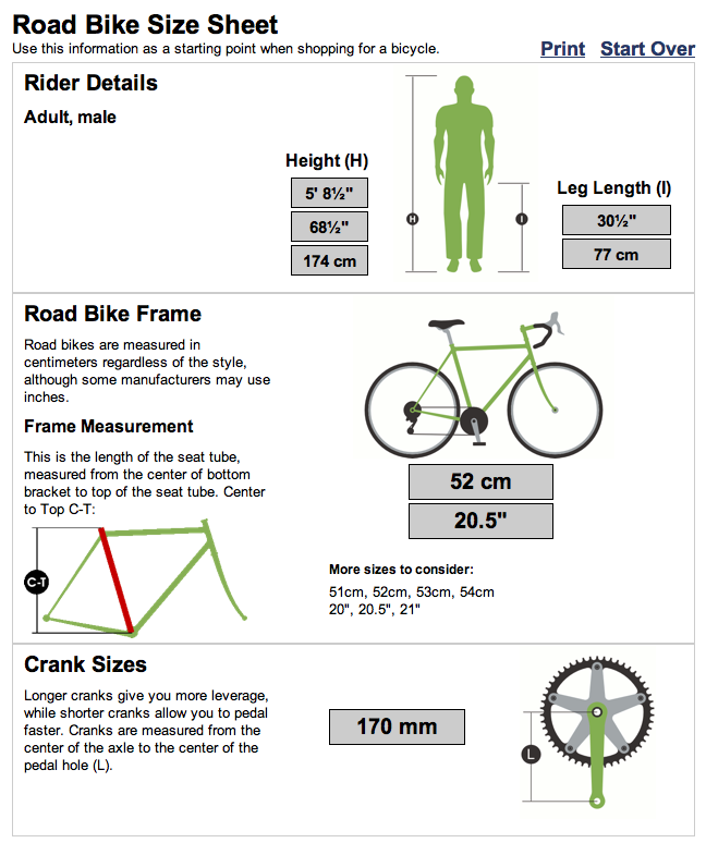 Bike Sizing Calculator Keyword Images