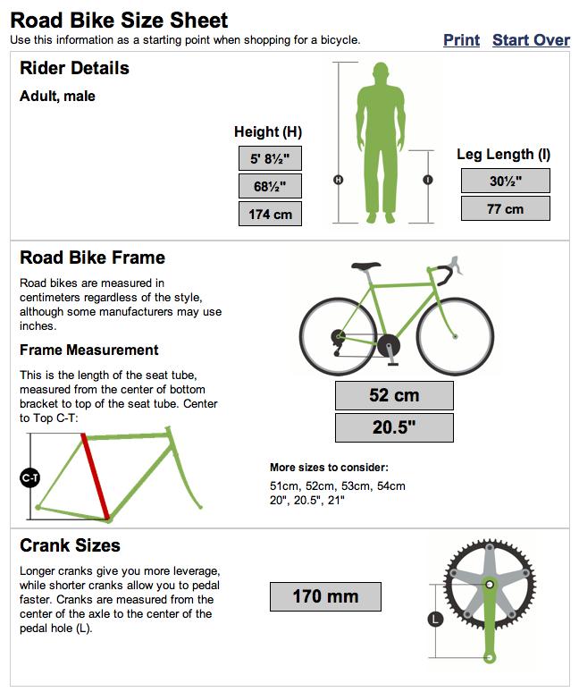 Bike Sizing Calculator Keyword Images