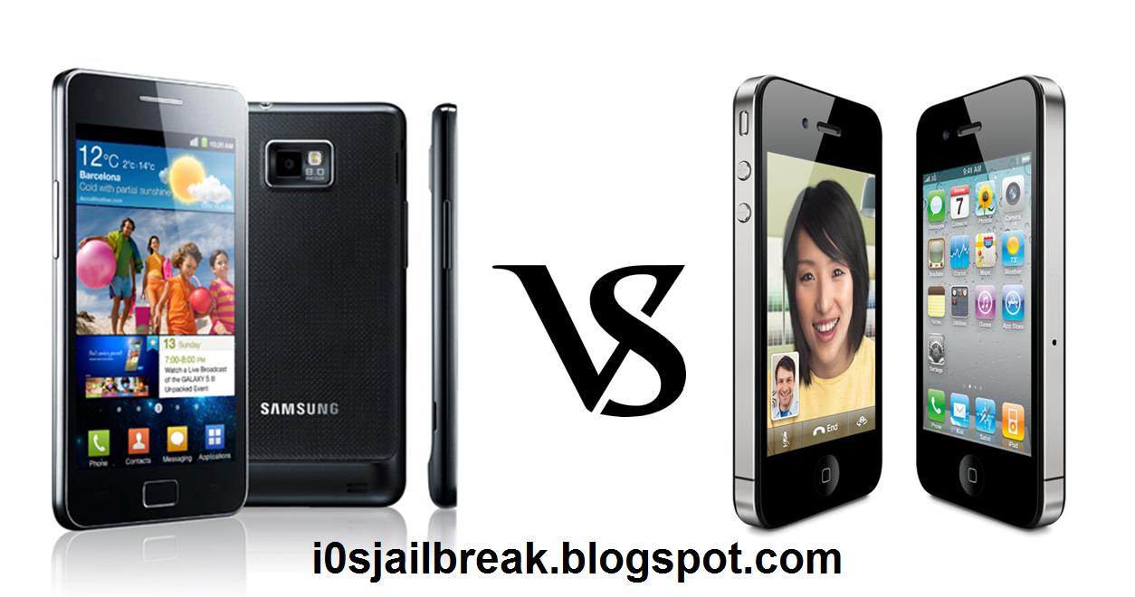 Samsung Galaxy S2 Vs Iphone 4s Ios Jailbreak