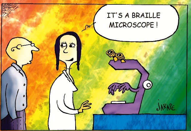 Braille microscope
