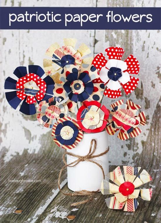 http://livelaughrowe.com/patriotic-paper-flowers/