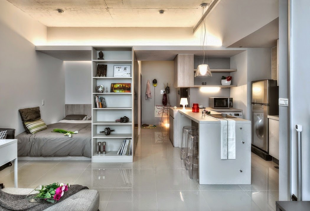 Blog achados de decora o quitinete ou kitnet de 32 m - Mini apartamentos ...