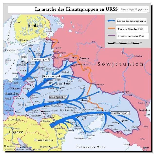 killing squads followed  German Army advanced  Russia Einsatzgruppen Nazi exterminators