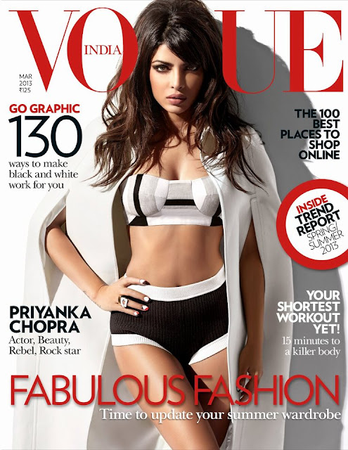 Vogue-March 2013: Priyanka Chopra on Sizzling Cover Page