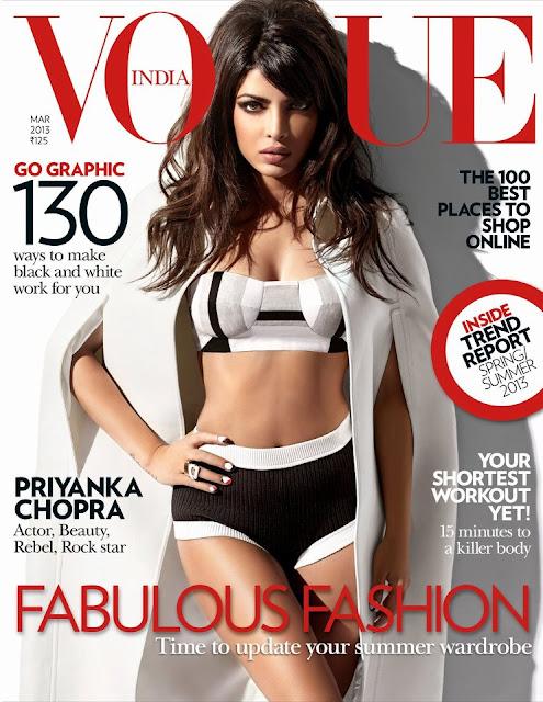 Vogue-March 2013: Priyanka Chopra on Sizzling Cover Page