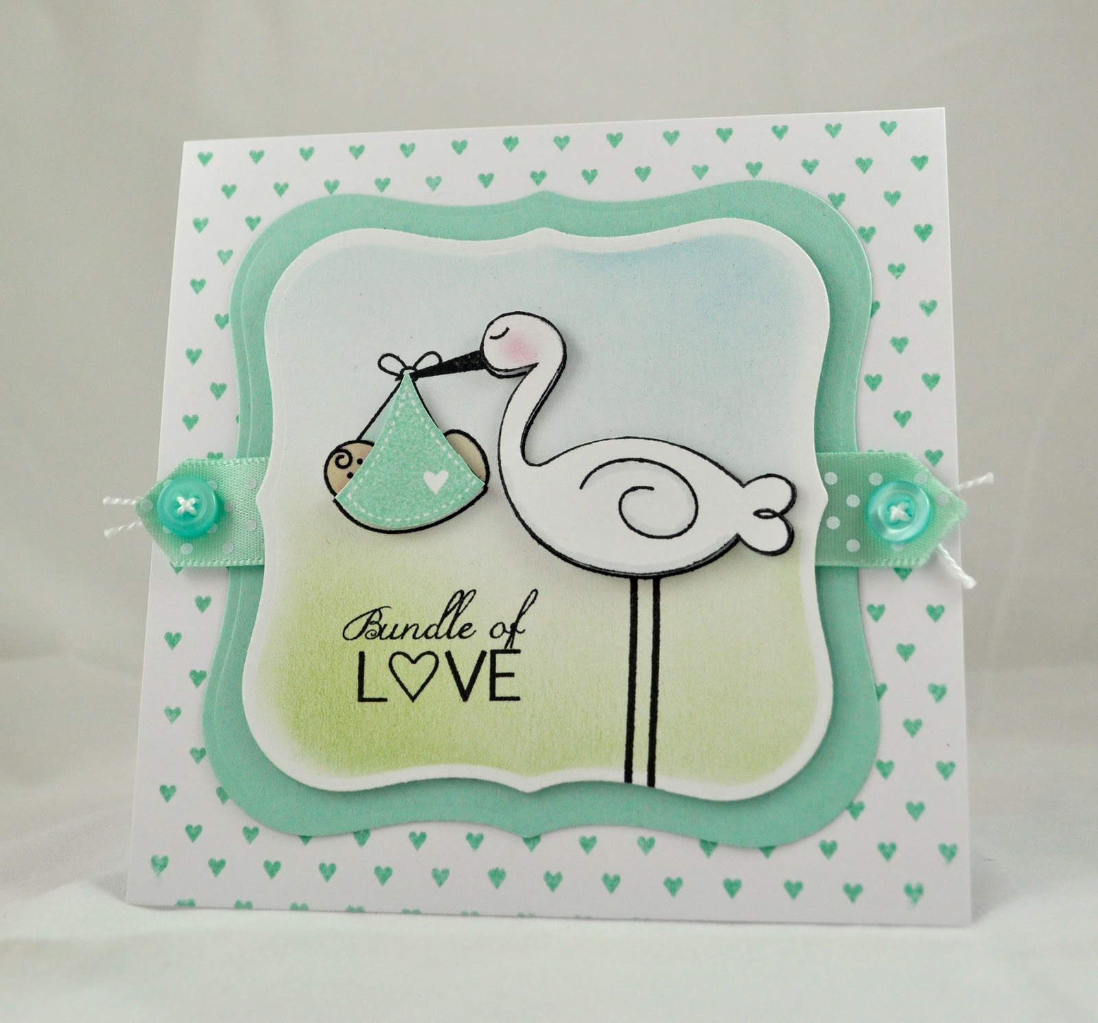 Inky Fingers: New Baby Card and CAS card class