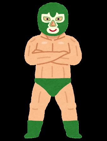 マスクを被ったプロレスラーのイラスト