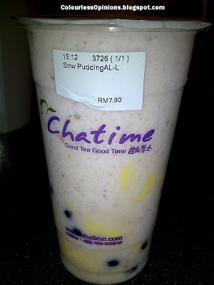Chatime Eat Food Village Publika Solaris Dutamas Mont Kiara Nuffnang ChurpChurp Event Strawberry Pudding Au-lait Smoothie with pearls