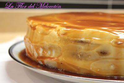 Tarta de calabaza y avellanas con crema de queso y caramelo salado