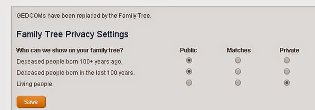 FamilyTreeDNA privacy settings