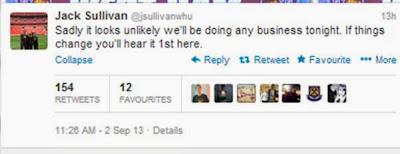 Jack Sullivan Twitter transfer deadline day