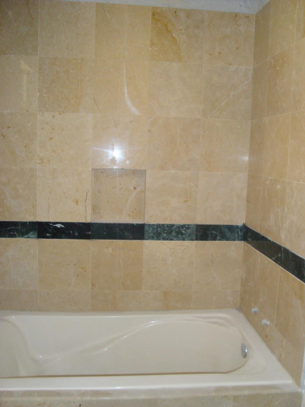 Baño De Tina Con Romero:para habitacion o hotel sardinel de marmol para separar el area de