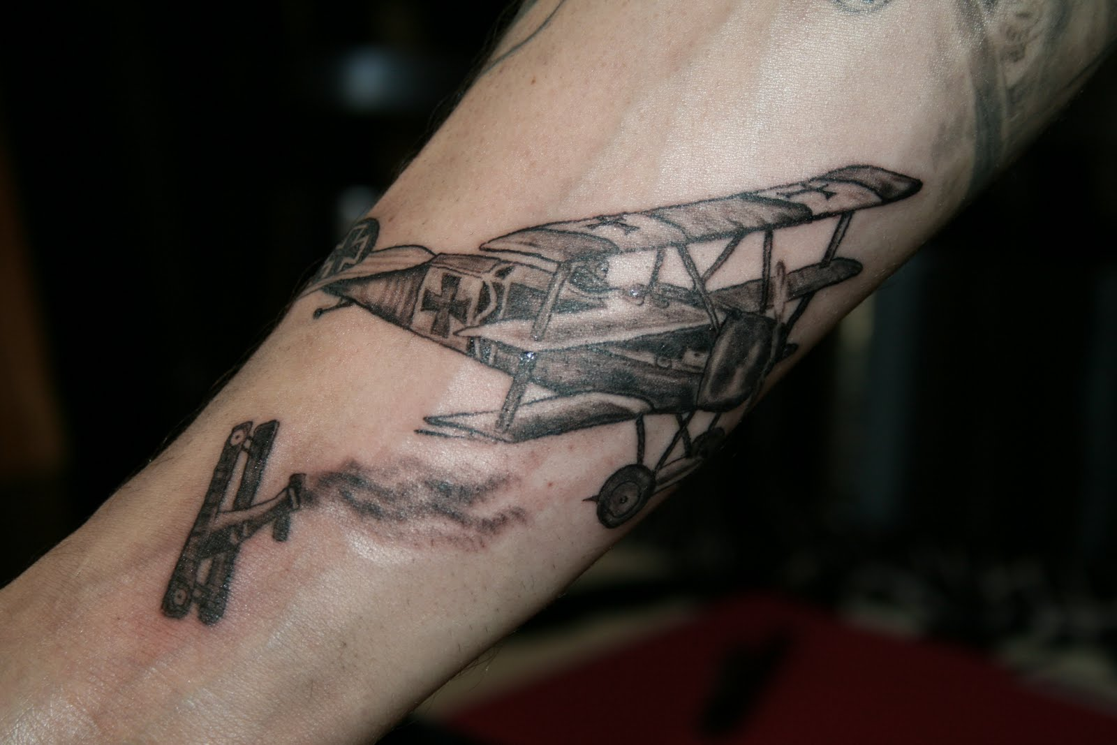 Ghost house tattoo the red baron for Red baron tattoo