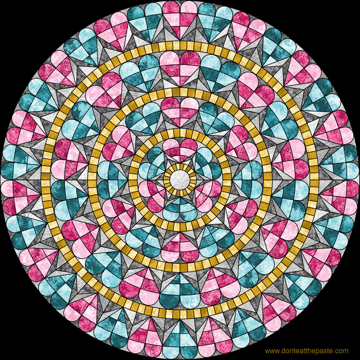 Heart mandala- with a version to color yourself!