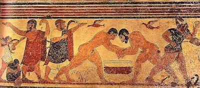 Tumba de los Augures de Tarquinia. Pintura etrusca, Pintura romana, el arte en Roma