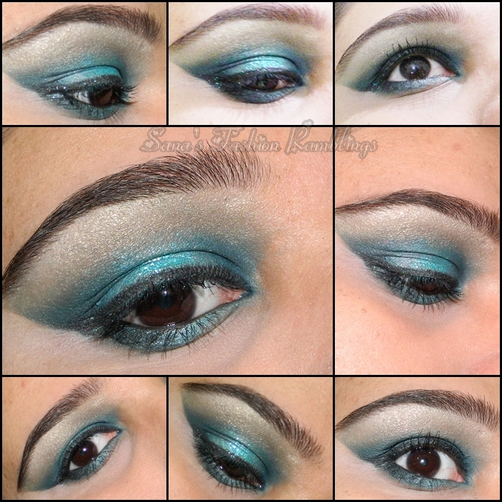 Teal And Turquoise Glitter Smokey Eye Makeup Eotd Sanas Ramblings