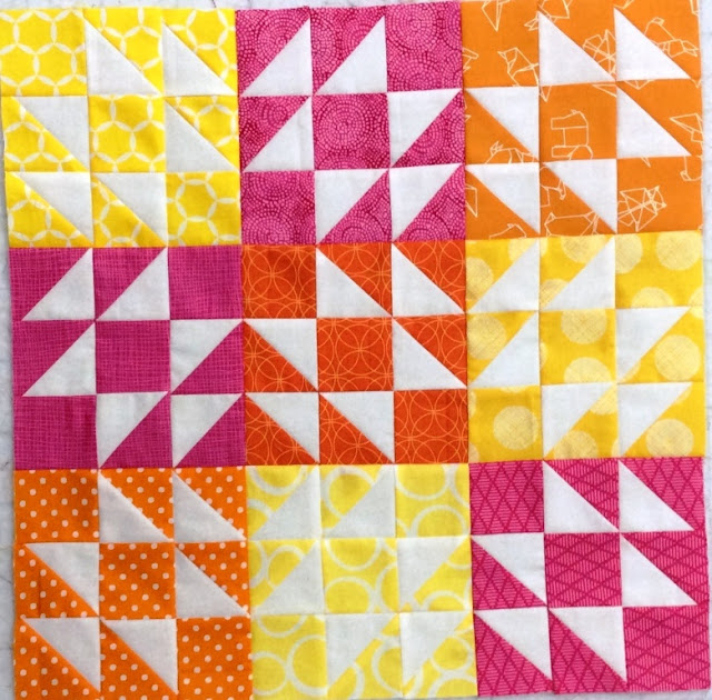 photo of a pillow top using jacks on six quilt block