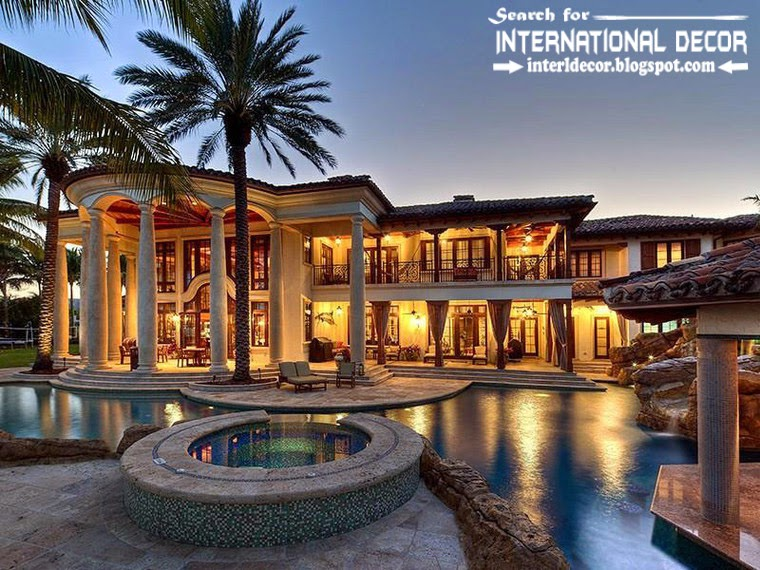 Mediterranean Palace in Florida, Luxury American palace Colonial style