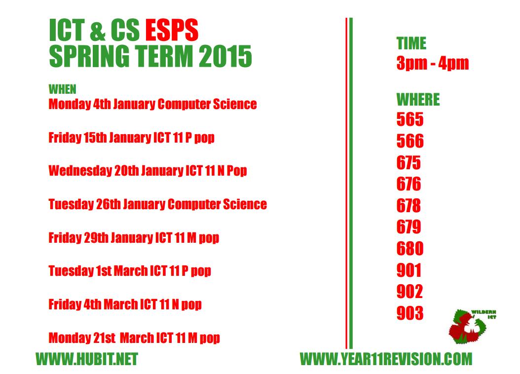 ICT & CS ESPS 2016