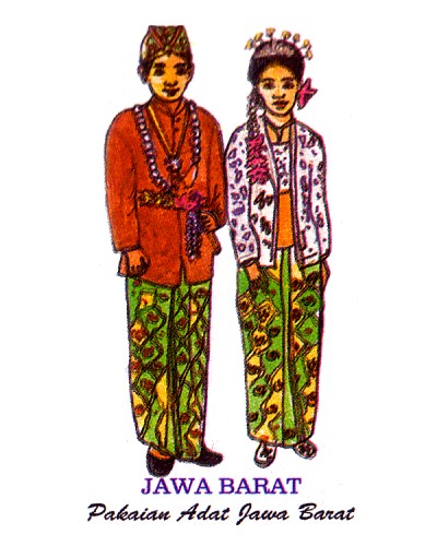 Label Stiker: Pakaian Adat di Indonesia