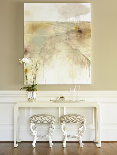Caso a casa decorando o hall de entrada for Neutral gold paint color