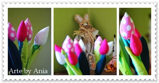 tulipany rękodzieło