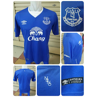 gambar detail photo kamera Jersey Everton home terbaru musim 2015/2016 kualitas grade ori