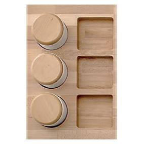 tarro porcelana cajon cocina base madera