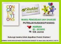 Shaklee lover and generous distributor!