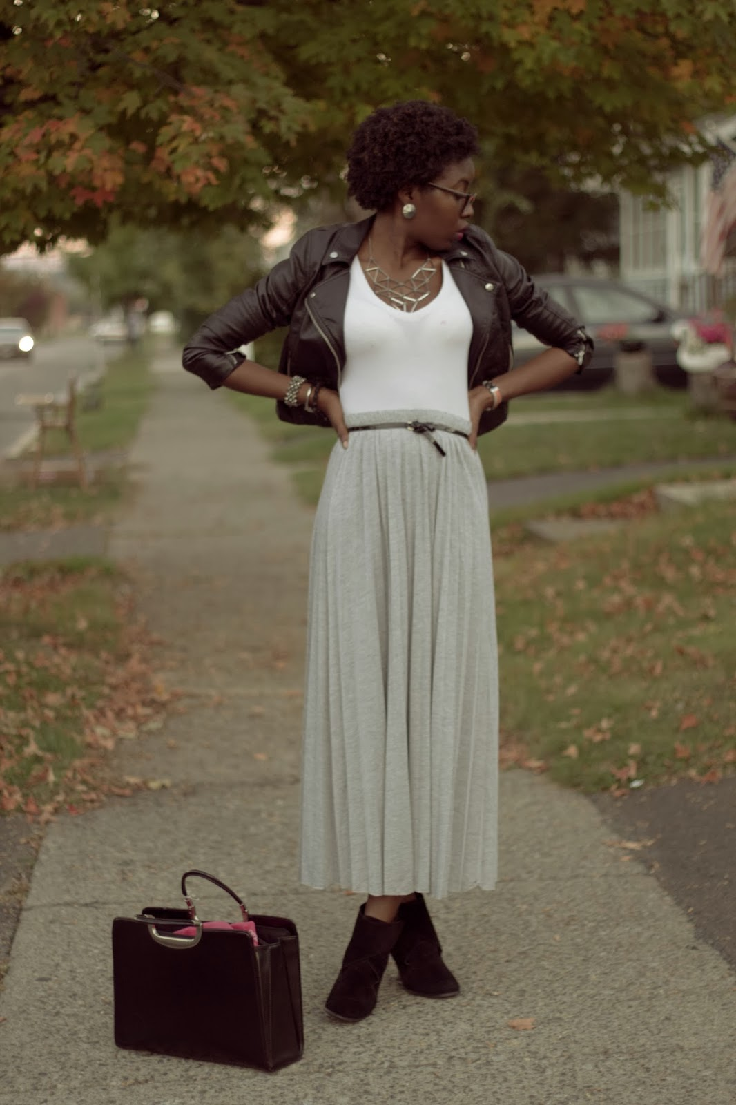 2 ways the fall maxi skirt chocolate laced