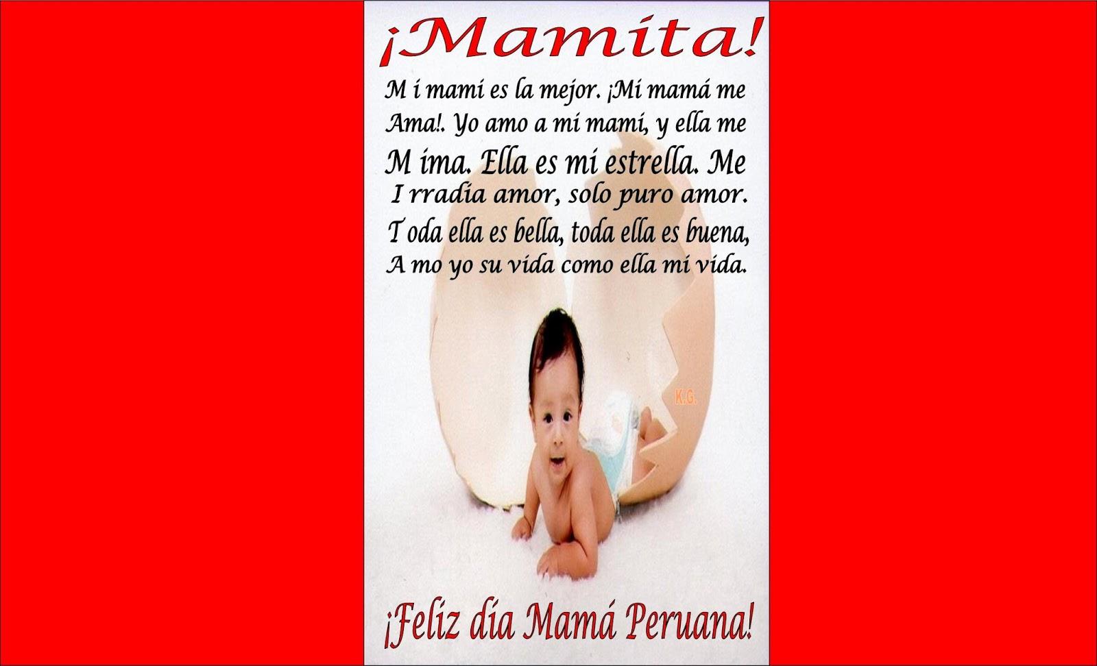 Feliz Día madre peruana (Segundo domingo de mayo)