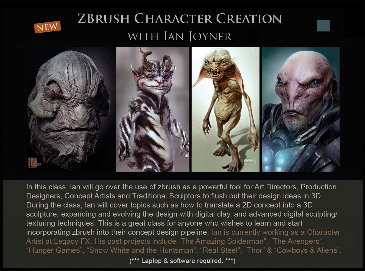 Zbrush Character Creation Concept Design Academy...